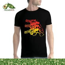 Gun Pistol Revolver Mens T-shirt XS-5XLStreetwear Funny Print Clothing Hip-Tope Mans T-Shirt Tops Tees Hot Sale Men T Shirt