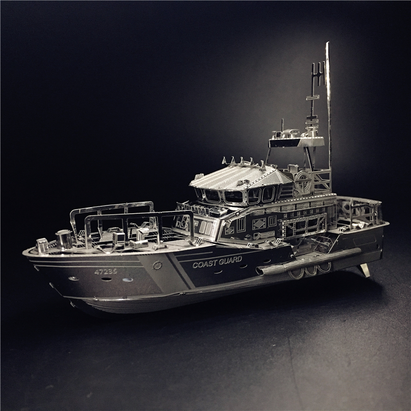 MMZ MODEL NANYUAN 3D Metal Kits DIY Puzzle Assembly Model LIFEBOAT  C22201 1:100 2 Sheets Stainless Steel Creative Toys Gift