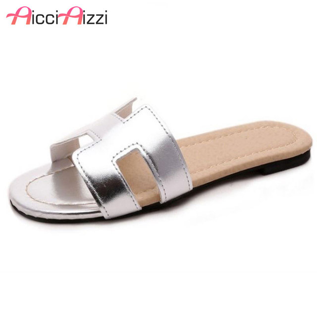 7603cc6002a3 Lady Flat Sandals Brand Quality Female Shoes Women Gladiator Sandals  Slippers Shoes Flip Flops Ladies Footwear Size 35-40 W0142
