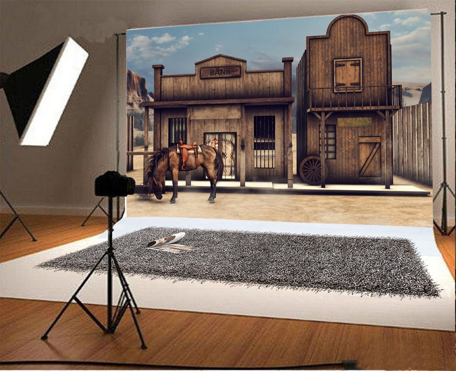 Colorful Wild West Scenery  Horse Bank photography studio background Vinyl cloth  Computer print party backdrops туфли nine west nwomaja 2015 1590