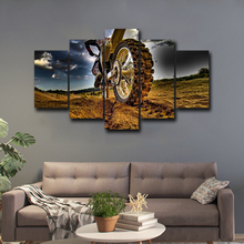 5 piece canvas art picture modern decorative painting Motocross wall art prints for edroom living-room