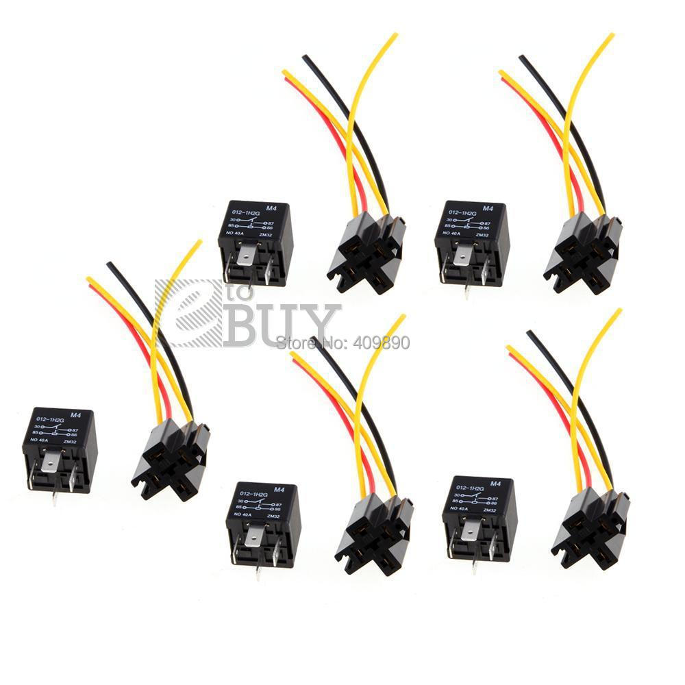 5pcs 12v Spst Relay Wire Socket Car Automotive Alarm 40a In Relays Spdt Wiring From Home Improvement On Alibaba Group