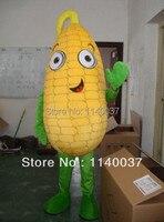 Талисман кукурузы талисмана Взрослый размер кукурузы початка кукурузы детские зеленый завод продукта Mascotte Экипировка Костюм Бесплатная д