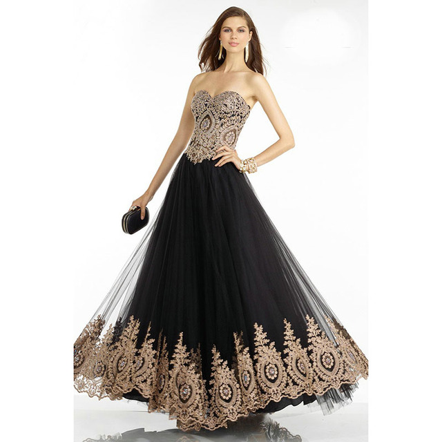 Aliexpress.com : Buy Best Selling Black Tulle Evening Dresses with ...