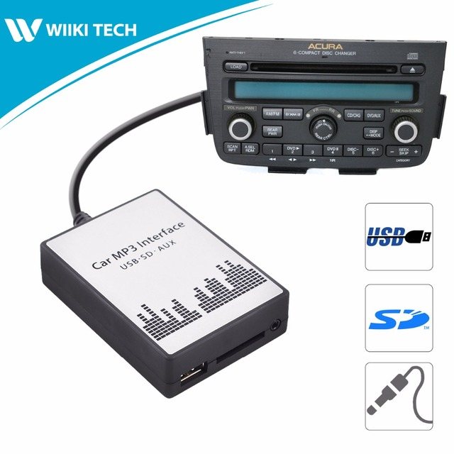 APPSCar Car Radio USB SD AUX Interface Digital Music Changer Mp - Acura mdx cd player