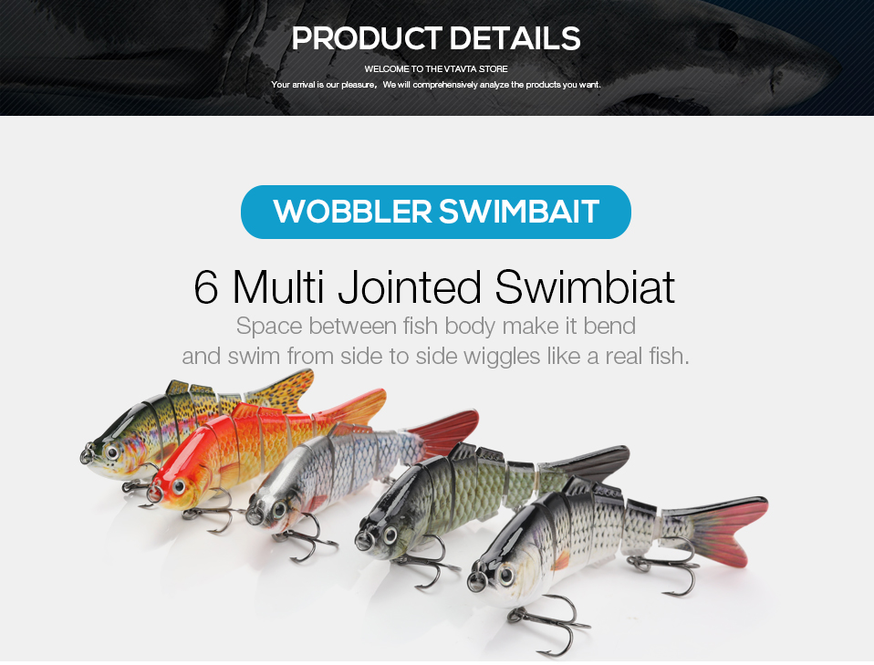 swimbait fishing lures wobblers fishing tackle crankbait soft lure ice fishing 1