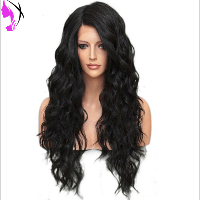 Beautiful Loose Wave Long Wig Fashion Women Lady Long Black Wavy