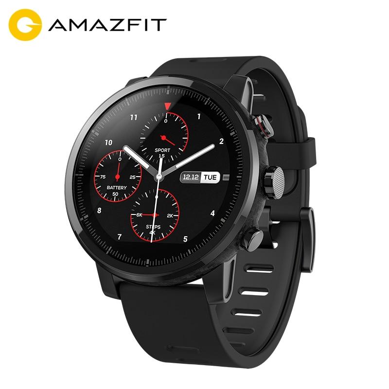 [Versión de inglés] Xiaomi Huami Amazfit Stratos Ritmo 2 Inteligentes Hombres Reloj GPS Monitor de Ritmo Cardíaco Deportes Reproductor de Música Firstbeat 5ATM