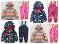 Qiuqiu известные модели Мальчики Девочки всепогодный водонепроницаемый высокого качества детская одежда костюмы для детей толстые куртки лыжный костюм