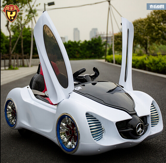 King Children S Electric Cars Mercedes Benz Four Wheel Double Drive Remote Control Car Toy 1 2 3 4 5 Years Old
