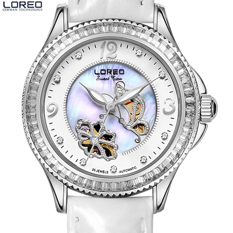 Top Luxury women watches LOREO fashion sapphire crystal hollow waterproof luminous rich simple sense elegant female quartz watch
