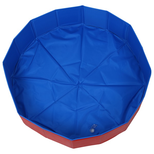 Pieghevole Pet Dog Nuoto House Bed Estate Piscina Blu + Rosso per link VIP