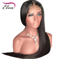 Elva Hair Silk Base Lace Front Human Hair Wigs Pre Plucked Ntural Hairline Straight Wig Brazilian Remy Hair Wigs With Baby Hair