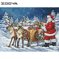 Santa Arrives Christmas Diy Diamond Square Diamond Painting 50x40cm Diamond Rhinestone Full Pasted Picutre
