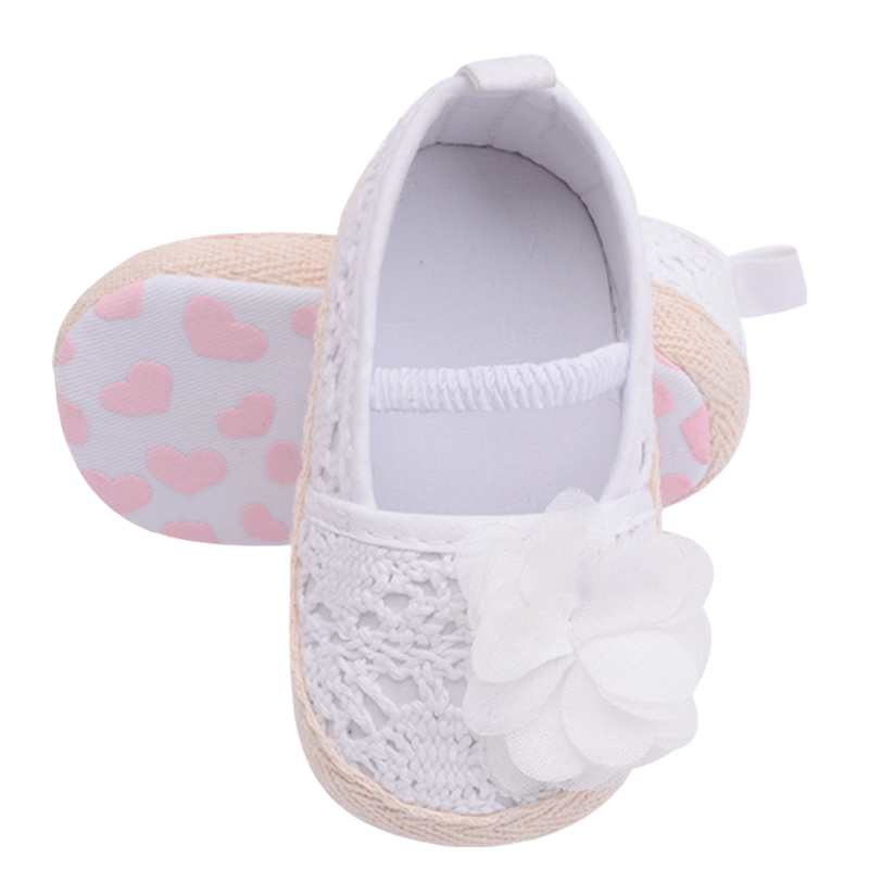 Baby Girl Flowers Knit Infant Moccasin Toddler Soft Sole Shoes 0-13cm Size  US