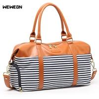Outdoor Stylish Women PU Leather Sports Bags Canvas Gym Bag For Shoes Girl PU Travel Duffle Handbag Luggage Bag sac sport bolsa