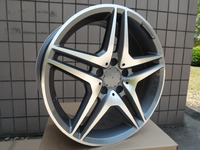 4 Новые 18x9.5 колеса для Mercedes Benz AMG стиль Диски колеса Gunmetal машина Уход за кожей лица + 45 мм сплав колеса Диски w828