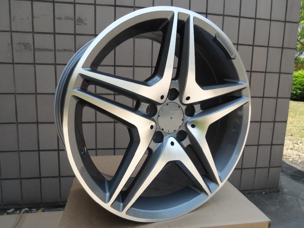 4 New 18x9.5 wheels for MERCEDES BENZ AMG STYLE RIMS WHEELS Gunmetal Machine Face +45mm Alloy Wheel Rims W828