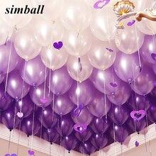 10 unids/lote de globos de látex púrpura claro de 10 pulgadas, globos de decoración de boda, inflables, suministros de globos de fiesta de cumpleaños para niños