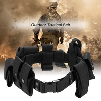 Lixada Outdoor Tactical Belt Security Military Belt with Tactical Pouch MOLLE Pouch Mag Pouch Utility Pouch Holster Gear