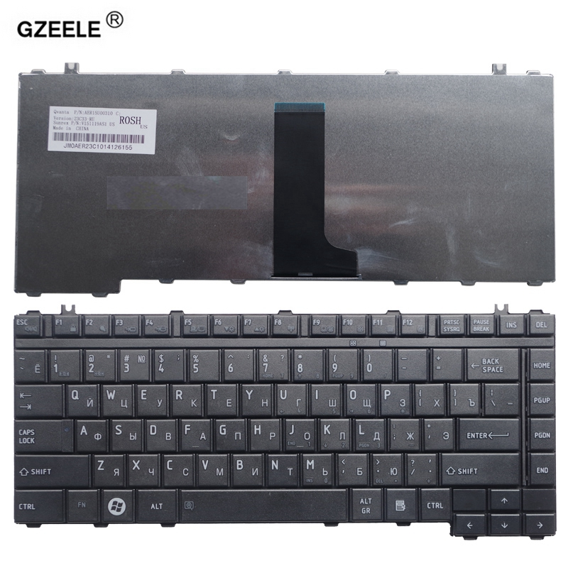 GZEELE Russian Keyboard For Toshiba Satellite A200 A205 A210 A215 A300 A305 A305D A350 A355 M300 M200 M305 PK130190180 RU Laptop