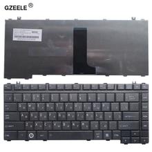 GZEELE teclado ruso para ordenador portátil Toshiba Satellite A200 A205 A210 A215 A300 A305 A305D A350 A355 M300 M200 M305 PK130190180 RU