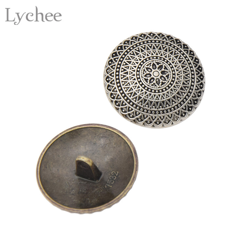 Metal Round Embossed Copper Coat Button Embellishment Shank Blazer Sewing