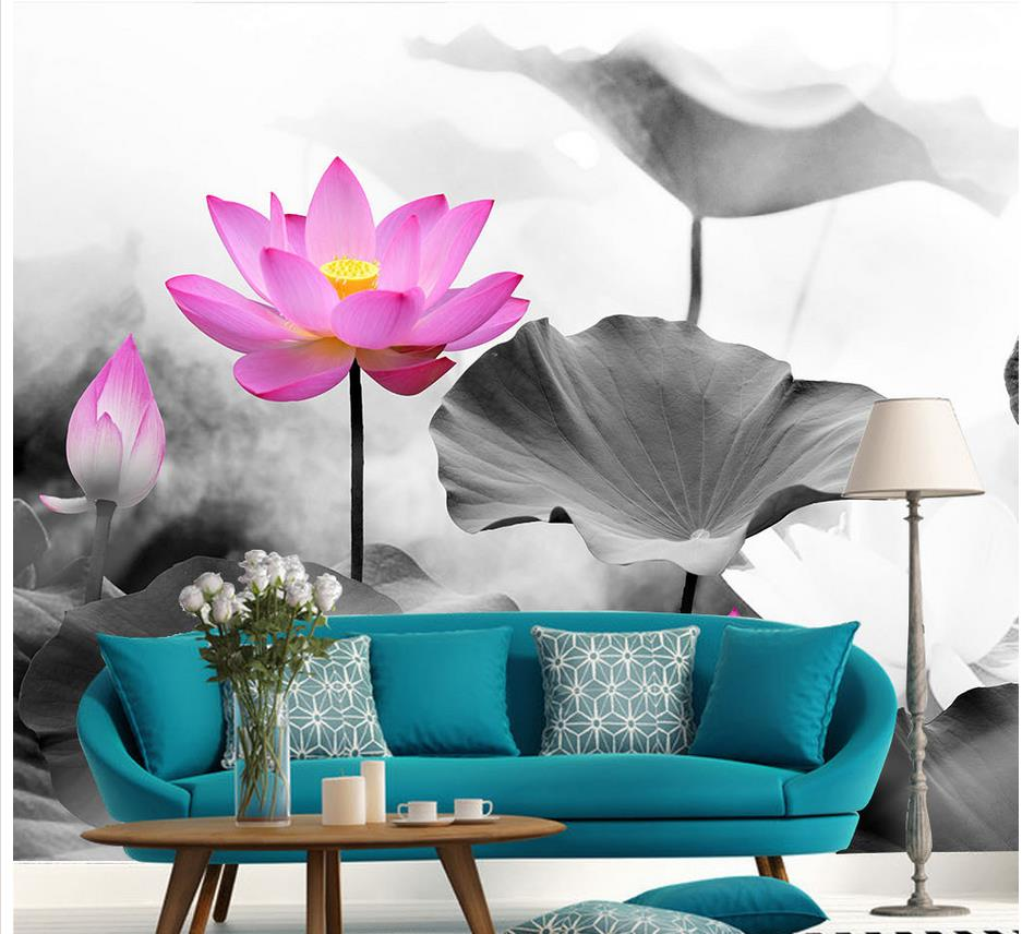 Compare prices on lotus chinese online shoppingbuy low price wallpapers for living room lotus chinese wallpaper for walls 3d window mural wallpaper home decoration dhlflorist Choice Image