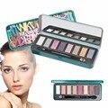 Marca de Maquiagem profissional 8 Cores Quentes Eye Shadow Palette Cosméticos Paleta de Sombra e Luz Contorno Dos Olhos sombra Y2