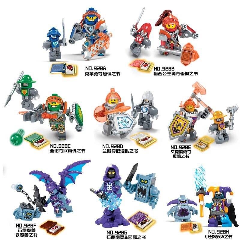 8 Setzt NEUE Nexo Ritter Zukunft Schild Modell Bausteine Schloss Krieger Nexus Abbildung Spielzeug Für Kinder Kompatibel Mit Legoe