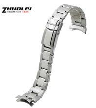 20 mm alta calidad de plata inoxidable acero correa de muñeca correa de reloj