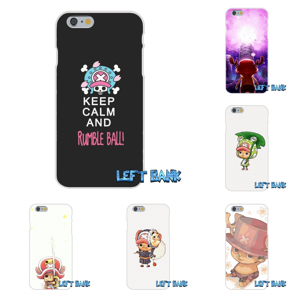 For iPhone 4 4S 5 5S 5C SE 6 6S 7 Plus ONE PIECE Luffy Tony Chopper Soft Silicone TPU Transparent Cover Case