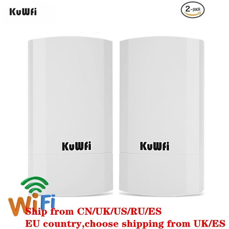 2 pièces 2.4 Ghz 300 Mbps 2 KM Point à Point aucun réglage sans fil extérieur CPE routeur pont Point d'accès prend en charge WDS avec affichage LED