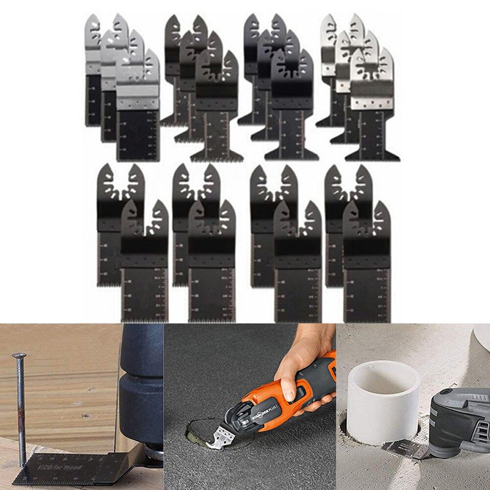 קרסים עופרות אביזרים וביגוד Multi-Function 20pcs Bi-מתכת המסור Precision Blade נדנוד Multitool להב המסור עבור PVC עץ קשה חיתוך Multi-Tools 29 (1)