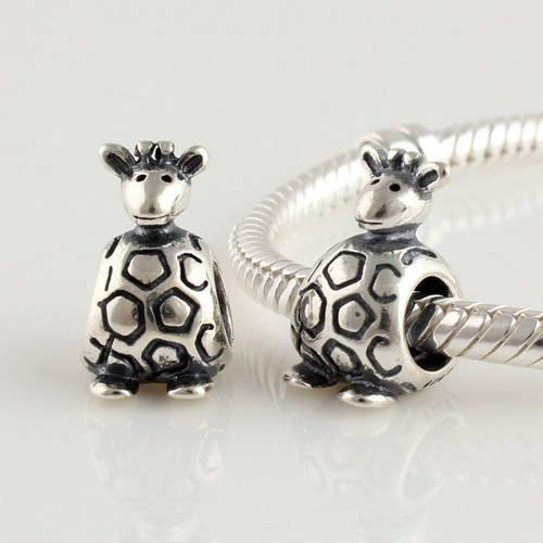 Lydia 925 Sterling Silver Giraffe Charm Compatible With For Pandora Style Bracelets 790274