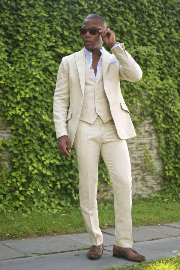 50efee8d4e2 Viimane mantel Pant Design beež valge linane meeste ülikond vabaaja ...