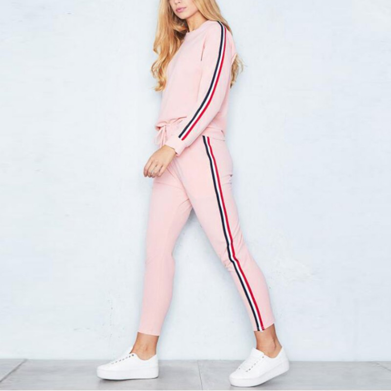 New 2017 Women Two Piece Casual Sets Tracksuit For Women Elegant Pullovers Pants Set Solid Sweat Autumn Outwear Plus Size ...