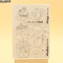KLJUYP LOVE Clear Stamps Scrapbook Paper Craft Clear stamp scrapbooking 501
