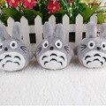 J.G Chen 10pcs/lot New Arrival Cute Japanese Anime Gray My Neighbor Totoro Plush Keychain Dolls Toys 7cm Totoro Pendant