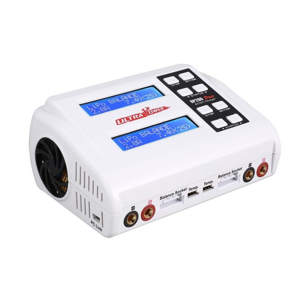 Ultra Power UP200 DUO 200W 10A AC / DC Battery Balance Charger / Downloader for LiPo LiFe Lilon LiHV NiCd NiMh Pb RC Battery rc power up200 duo 200w 10a ac dc battery balance charger discharger for lipo life lilon lihv nicd nimh pb rc battery