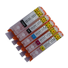 Cartucho de tinta recargable PGI 470 PGBK 470 471 CLI 471, chip permanente de repuesto para impresora canon PIXMA MG6840 MG5740 TS5040 TS6040