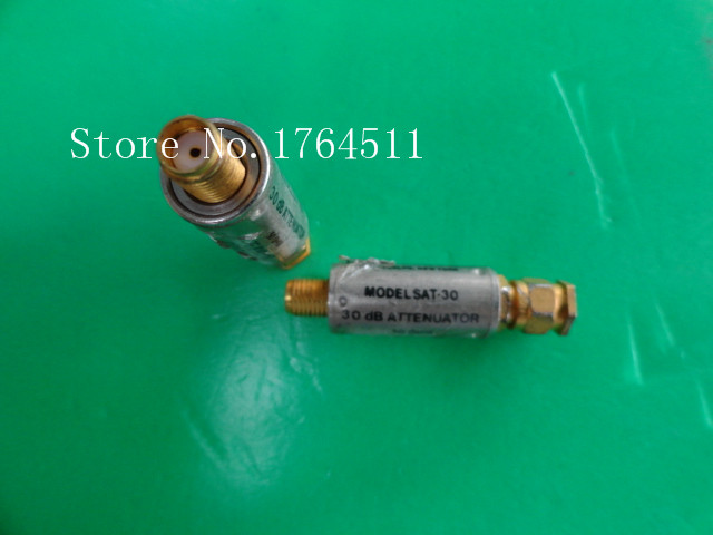 [BELLA] MINI SAT-30 DC-1GHz Att:30dB P:2W SMA Coaxial Fixed Attenuator  --5PCS/LOT