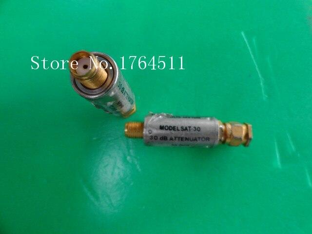[BELLA] MINI SAT-30 DC-1GHz Att:30dB P:2W SMA Coaxial Fixed Attenuator  --5PCS/LOT