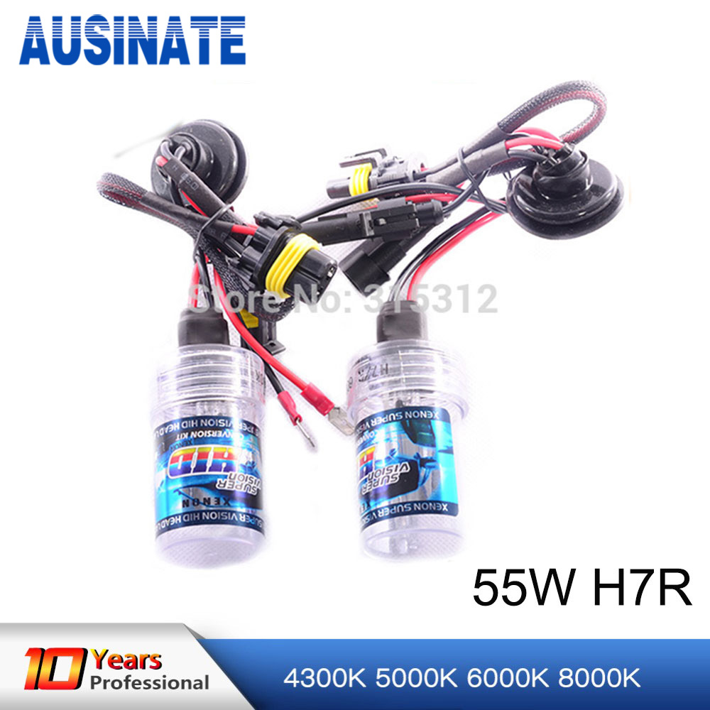 HOT SALE& HIGH QUALITY!! HID XENON 2x 12V 55W H7R 4300k 5000k 6000k H7R XENON BULB 12V 55W headlight