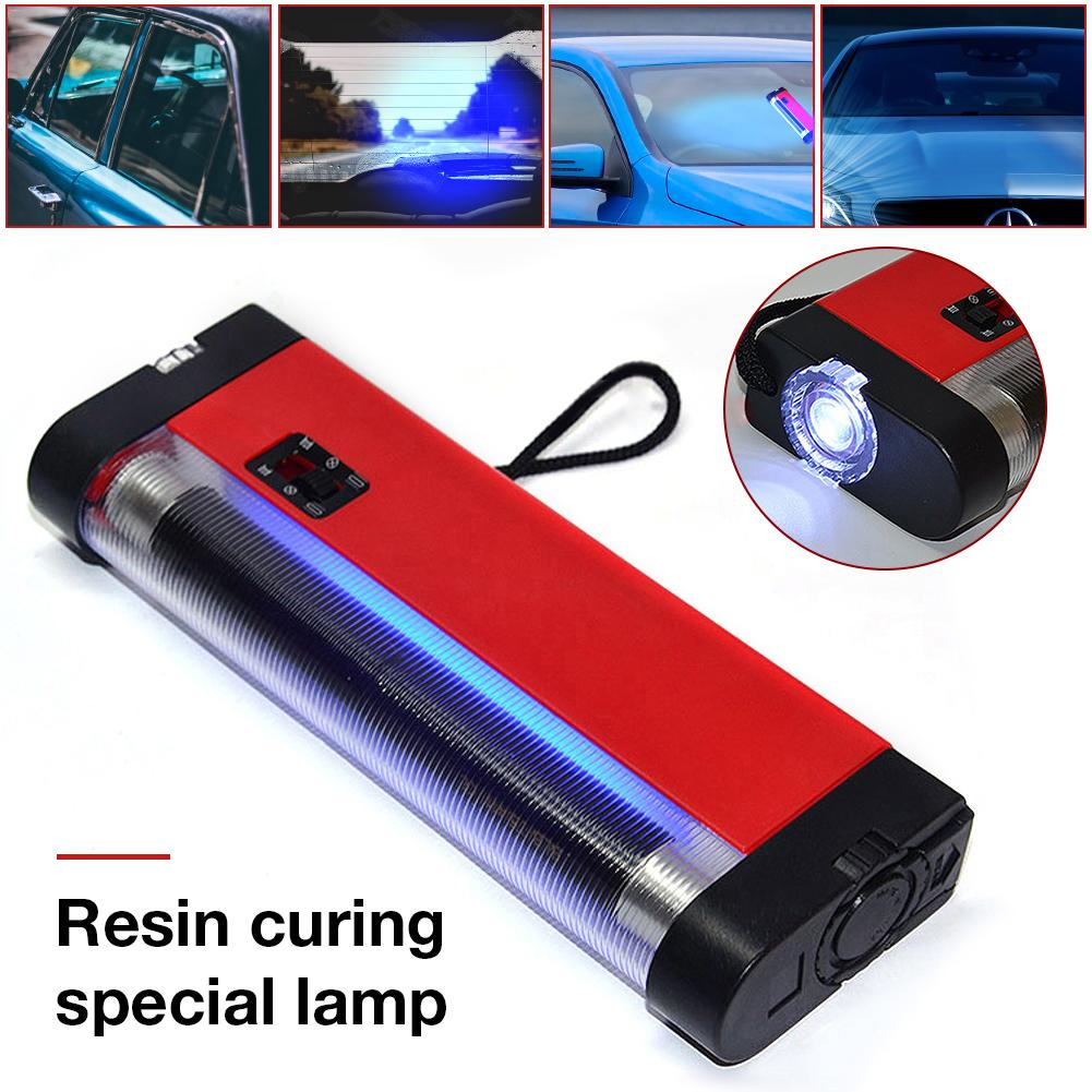 Resin Curing Special Light UV Lamp Curing Resin Glue Special Set Tool Car Front Windshield Glass Crack Repair Tool
