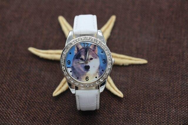 Hot Sale Fashion Popular Boy Wolf Dog Watch Leather Strap Analog Wristwatch Free Shipping Y125