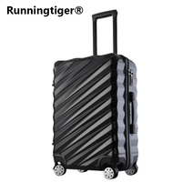 20242628 Aluminum frame Luggage New Travel Suitcase with Spinner Rolling Trolley Case Carry On with wheel PC Hard shell Box