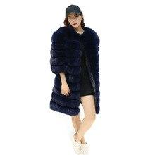 2019autumn And Winter New Autumn Fur Coat Fox Long Section Horizontal Sleeves Detachable Vest Slim
