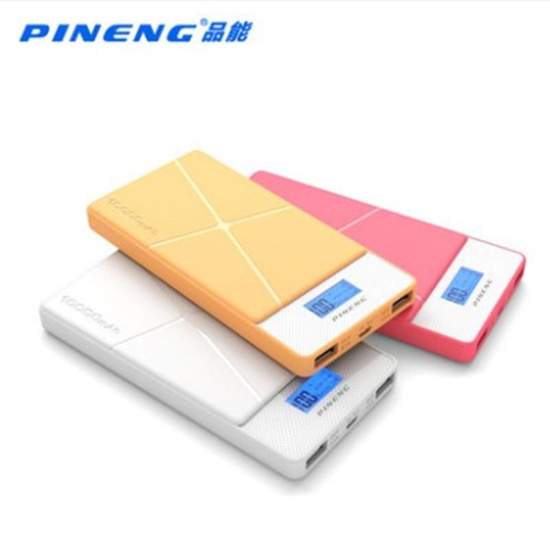 Original PINENG PNW - 983S 10000mAh Dual USB 2.1A 1.0A External Mobile Battery Charger Pack Power Bank with Built-in Li-Polymer