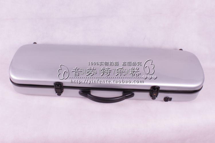 ФОТО silvery   color    4/4 Violin case Glass Fiber Soft Imitate Leather Pink White Black #001